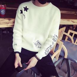 Marcas de roupas japonesas homens on-line-Atacado-homens Sweaters Fit tamanho S-XL 2016 primavera / outono roupas de marca de algodão japonês hedging em torno do pescoço do homem bordado Blusas y99