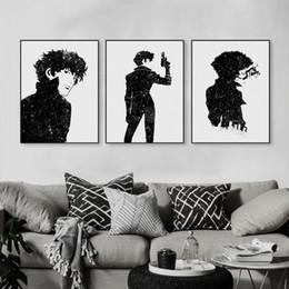 molduras de anime Desconto Lona Moderna Aquarela Minimalista A4 Art Print Poster Anime Japonês Cowboy Bebop Parede Pictures Home Decor Pinturas Sem Moldura