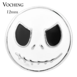 Wholesale Painted Gifts - VOCHENG NOOSA Halloween Gift Petite 12mm Hand Painted Custom Snap Button Interchangeable Jewelry Vn-1067