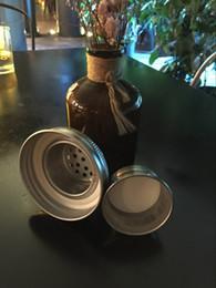 Il trasporto libero 100 pz / lotto Mason Jar Cocktail Shaker con 2 Parte Adatto Qualsiasi normale barattolo di muratore (vaso non incluso) da