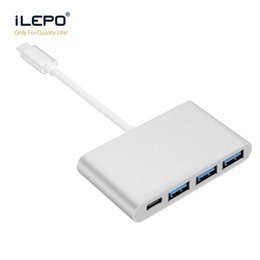 apple macbook cables Coupons - USB3.1 Type C hub to USB 3.0 3 Ports Multi-Hub Charging Adapter for Apple Macbook smartphone and Tablet Laptop Cable USB-C
