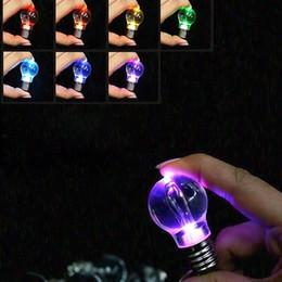2019 lanterna clara Luzes LED Lanterna Luz Criativa Colorido Mudando Mini Lâmpada Anel Chave Chaveiro Claro Lâmpada Tocha Chaveiro lanterna clara barato