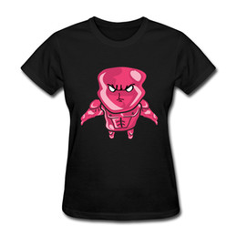 Wholesale Printed Forms - Newest Arrival Women's T-shirts Red Angry Cartoon Embroidery Shirts Casual Form 100 Percent Pure Cotton Tops T-shirts