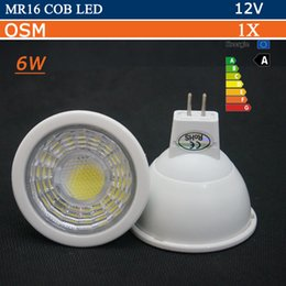 Wholesale Spot 12v Led 6w Mr16 - Super Bright MR16 COB LED Bulb 6W 12V AC DC G5.3 LED lamp Spotlight light Warm white Cold white MR 16 Spot light