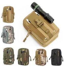 Wholesale Girl Cell Phone Wallet - Military Molle Tactical Waist Bag Wallet Pouch Phone Case Outdoor Camping Hiking Bag Tactical Waistpacks CCA7343 50pcs