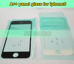 Wholesale Iphone 5c Broken Screen - 5pcs lot A++ High Quality Touch Screen Lens Glass Cover Replacement for broken iPhone 5 5s 5c LCD