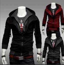 Блузка с капюшоном онлайн-Бесплатная доставка -Нью-Кредо убийцы Десмонд стиль велюр толстовка с капюшоном
