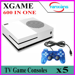 Wholesale Hd Video Movies - 5pcs NEW Mini TV Video Game Console Built-in 600 Different Game Support HD HDMI Output Movie Player Dual Gamepad For Nes Game YX-XGAME-05