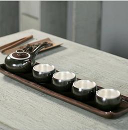 Wholesale Zisha Yixing Teapots - 2017 Kung Fu Tea Set Yixing Teapot Handmade Tea Pot Cup Set Zisha Ceramic Chinese Tea Ceremony Gift BONUS 3 CUPS 50ml Gift