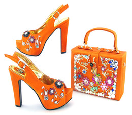 Wholesale Orange Dress Shoes For Women - Fashion New Style Woman Shoes And Bag Set Summer Afria High Heels Shoes And Bag Set For Wedding Free Shipping Size 38-43 TX-8281