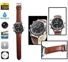 Wholesale Digital Spy Watches - Built-in 16GB Memory 30fps HD Mini DV Digital Video Recorders Watch Spy Camera Good Quality Freeshipping