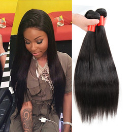 Wholesale Cheap Quality Brazilian Weave - Cheap Human Hair Extensions Peruvian Straight Hair Bundles 4pcs  Lot Natural Color Dyeable Best Quality Hair Weaves Wholesale Price 7A
