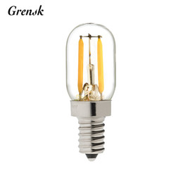 Wholesale Led Corn Bulb Dimmable - Edison Filament Refrigerator Lamp 1W Super Warm 2200K Retro LED Filament Bulb T20 E12 E14 Base Shape 110V 220V Dimmable