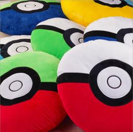 Wholesale Pillow Balls - Poke Ball Plush Toys Pillows 35cm Cartoon Elf Ball Throw Pillows Cushion Soft Children Pillow Poke Pikachu Stuffed toys