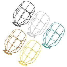 Wholesale Industrial Light Bulb Cage - The Best Quality Vintage Steel Bulb Guard Clamp On Metal Lamp Cage Retro Trouble Light Industrial