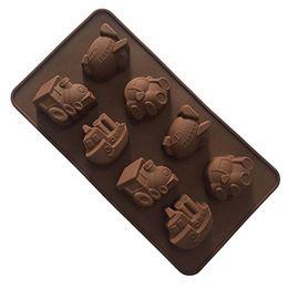 Auto schokolade online-Kuchen dekorieren Werkzeuge Ein Stück DIY Silikon Schokolade Schimmel 8 Gitter Auto Auto Fähre Design Süßigkeiten Formen