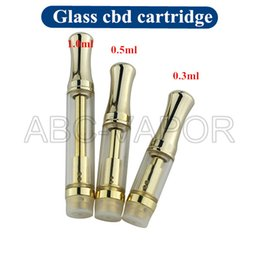 Wholesale Wholesale Hot Products - Glass cbd oil cartridge atomizer,new products 2016 hottest co2 cartridge gold glass cbd oil cartridge vaporizer cartridge empty-01