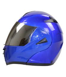 Wholesale Motorcycle Half Helmet Yellow - Motorcycle Helmet Best 7 Color DOT Dual Visor Flip Up Motorcycle Helmet Racing Motocross Full Face Motorcycle Half Helmet Motorcycle Helmet