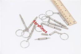 Wholesale Watch Repair Tools Kit - 3in1 Eyeglass Screwdriver Sunglass Watch Repair Kit Keychain e cigarette RDA RBA MOD toys DIY repair tool hand kit slotted hex phillips HOT