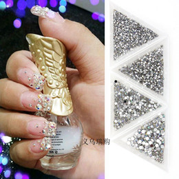 Wholesale Diy Nail Jewelry Accessories - Manicure Jewelry Acrylic Diamond 3d Nail Accessories Diy Manicure Flat Drill Drill 10 Thousand   Bag 4 Dimensions Free Shipping