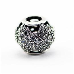 Wholesale Oriental Jewelry - Fits European Beads Bracelets DIY CZ Pave Oriental Fan Charms Beads Original 925 Sterling Silver Fine Jewelry For Women 2017 Summer HB646