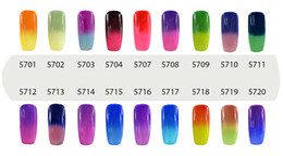 Wholesale Gel Polishes - Elite99 7ml Temperature Change Chameleon Changing Color Soak off UV Nail Gel Polish UV Gel Choose 8 From 54 Color