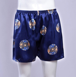 Wholesale Mens Silk Shorts - Wholesale-1Pc Mens Print 100% Silk Sport Athletic Gym Jogging Football Boxer Short Trunks Size S-3XL Free shipping Rich colors