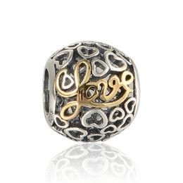 Canada Les perles d'amour pavent le charme en gros S925 l'argent sterling adapte au charme de pandora charmes bracelets livraison gratuite LW549H8 supplier wholesale pandora style bracelet Offre