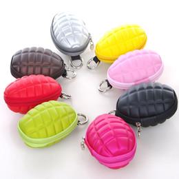 Wholesale Key Cases For Women - Wholesale multi color Key bag Unisex multifunctional grenades key case purse Wallet special style for women men