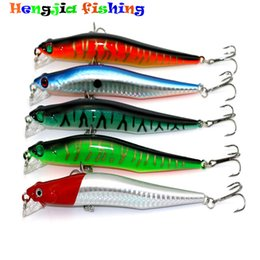 Wholesale Minnows 12cm - HENGJIA 20pcs 12cm 10G Minnow Fishing Lures with High Carbon Hooks Hard Baits Fishing Tackle 3D Artificial Bait Hard Floating Lures