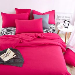 Wholesale Zebra Bedding King - Wholesale-Bedding Sets Summer Home Zebra Bed Sheet and Rose Red Duver Quilt Cover Pillowcase Soft and Comfortable King Queen Full Twin