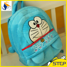 Wholesale Cheap Backpacks For Kids - New Doraemon Plush Backpacks Kids Bags Backpakcs for School Bags Cheap Price Free Shipping ST025