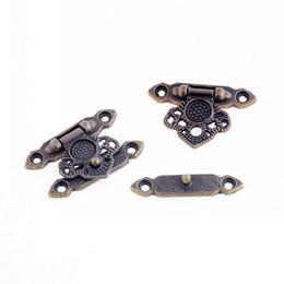 gancho tornillos envío gratis Rebajas Al por mayor-envío gratuito 5 Sets de bronce antiguo Metal Hook Box cierres corchete caja del bolso cerradura del monedero cerradura 36x25mm (no con tornillo) F1087