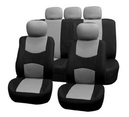 Wholesale passat interior - Polyester fabric for Volkswagen Universal car seat cover set Red car style for most automotive interiors accessories
