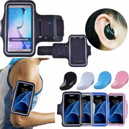 Wholesale Mini Galaxy Mobile - Super Mini Stereo Bluetooth Headset S530 In-Ear Wireless Earphone For Mobile Phone + Sport Armband For Samsung Galaxy S7 S6 Edge