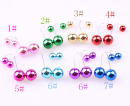 Wholesale Factory Direct Version - New south Korean version of the elegant new Europe and the United States 2016 double pearl earrings U long ear hook factory direct sale