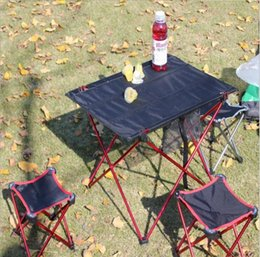 Wholesale Camping Chair Wholesale - 2017 Outdoor folding table chair, super light aluminium alloy folding table, portable table, outdoor picnic table and chair, quantity can be