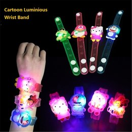 Wholesale Led Flashing Watch - Cheap Fashion Kids LED Watch Bracelet Toy Boys Girls Colorful Flash Watches Childred Cartoon Watch Toy Party Decorations z091