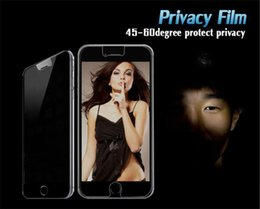 Wholesale Screen Protection S3 - Screen peep-proof protection film tempered glass front screen protectors films for iphone 4 4s 5 5s se 6 6s plus samsung s3 s4 s5 s6 s7