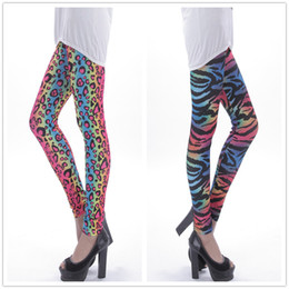 Wholesale Cheap Printed Leggings - Wholesale- 2016 fashion women summer Colorful Leopard print casual leggings fitness legging Dancing Pants cheap clothes china clothing
