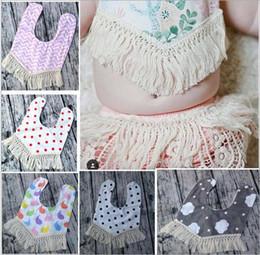 Wholesale Free Fringe - Baby Bibs Tassel Bandana INS Burps Cloths Newborn Fringe Saliva Towel Infant Cotton Bavoir Scarf Child Cartoon Bib Burp Baberos Turban B2682
