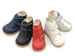 Wholesale Toddler Soft Boots - New Arrival Handmade Toddler Little Kids Boots Genuine Leather Thick Wool Linning Soft TPR Sole Anti-slip Anti-friction 1-6 Years Old