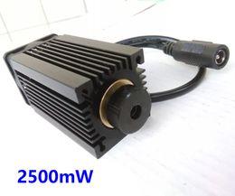 Wholesale Mini Cnc Parts - DIY 2500mW Blue Light 450 445nm Diode Focusable Laser Module Parts for Mini Laser Engraving Machine cnc Laser cutter free glasses