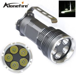 Torcia elettrica del faro online-AloneFire 5XT6 CREE XM-L T6 LED 18650 Torcia palmare Torcia lampada da campeggio