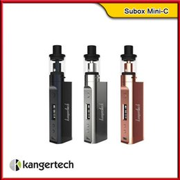 Wholesale Design Glass Cup - Kanger Subox Mini-C Starter Kit 100% Original With Subtank Mini-C Top Filling Tank Leak Resistant Cup Design & KBOX Mini-C 50W Mod