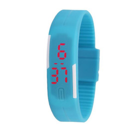 Wholesale Sport Fashion Silicon Watch - Fashion Soft Silicon Rubber Sport Waterproof Watches LED Screen Digital Watch Bracelet Wristwatch With Magnet Buckle
