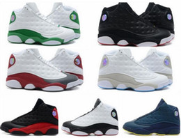 Wholesale Teal Lace Fabric - Wholesale Famous Trainers 13 XIII Retro 13s Hologram Men's Sports Basketball Shoes Barons (white black grey teal) Outdoor Sneakers US6-11-12
