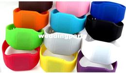 Wholesale Secret Hands Free - LED Touch-screen Watch Jelly Candy Extra-thin Silicone Waist Watches DHL FedEx Free Shipping