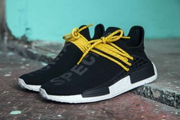 Wholesale Real Families - Selling Pharrell Williams friends and family NMD Human Race NMD Runner shoes Real Boost Running Shoes With Box