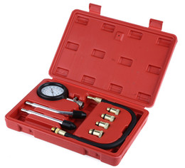 Wholesale Diagnostic Kit For Ford - Car Diagnostic Tool Rapid Type Pressure Gauge Tester Kit Motor Auto Petrol Gas Engine Cylinder Compression Gauge Tester Tool